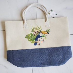 Blue Star Clothing Co. Woven Beach Tote